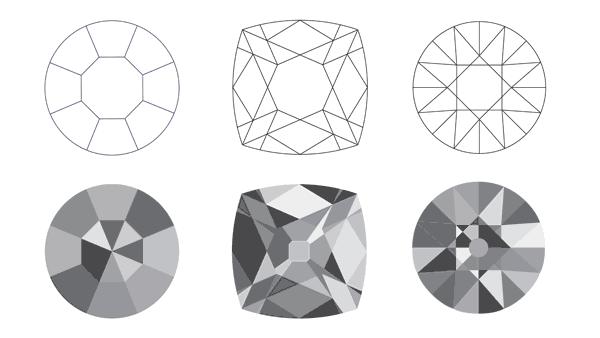 Antique Diamond Cuts: Single, Old-Mine and Old-European