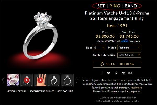 Whiteflash: Customize the Whole Ring Set