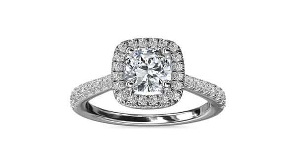 Halo Style Cushion Diamond Engagement Ring (Blue Nile 76456)