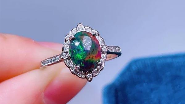 Wearing Black Opal Ring for Energy Healing
