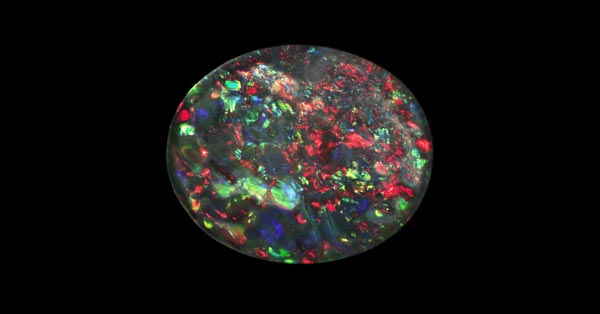 Black Opal Stone With Play of Colors
