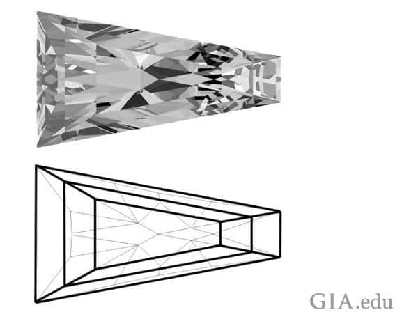 Sketch of Brilliant Style Baguette Diamond
