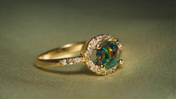 Wearing Green Opal Ring for Higher Chakra Healing
