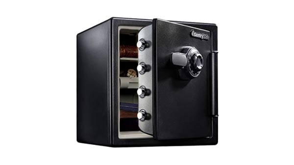 SentrySafe SFW123CU Fireproof Waterproof Jewelry Safe with Dial Combination