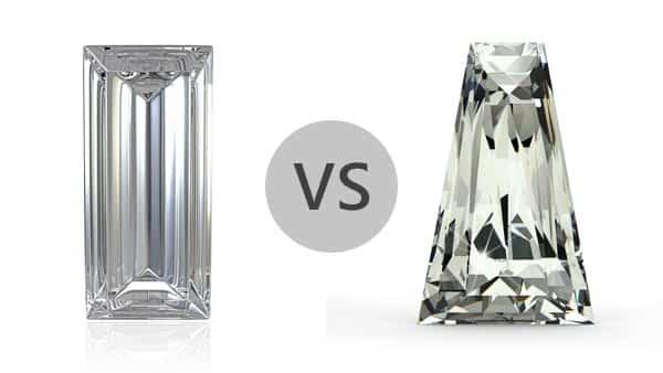Rectangular Baguette vs. Tapered Baguette Diamond