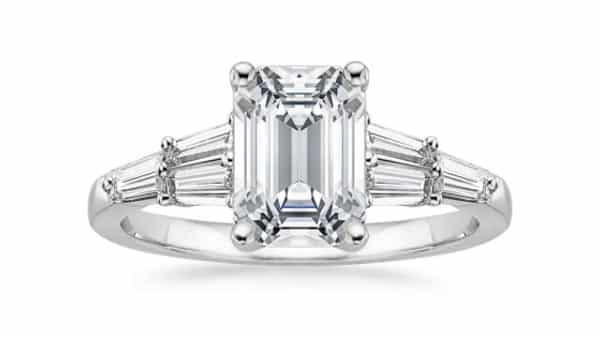 Tapered Baguette Clusters Engagement Ring