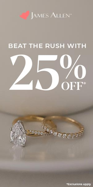 James Allen: Beat the Rush With 25% Off!